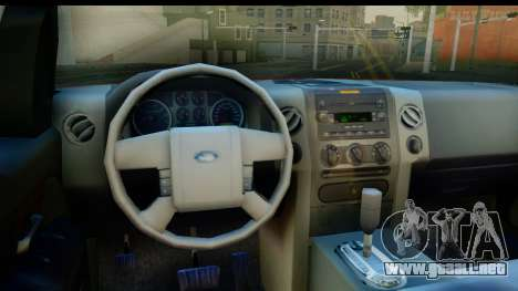 Ford F-150 4x4 para visión interna GTA San Andreas