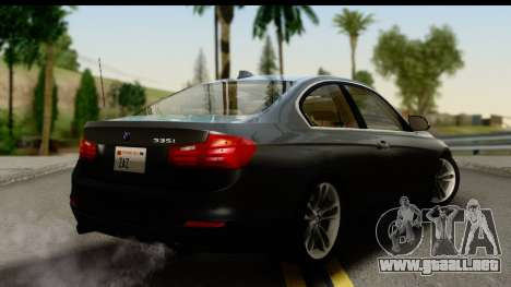 BMW 335i Coupe 2012 para GTA San Andreas left
