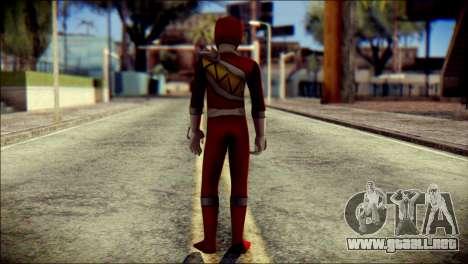 Power Rangers Kyoryu Red Skin para GTA San Andreas segunda pantalla