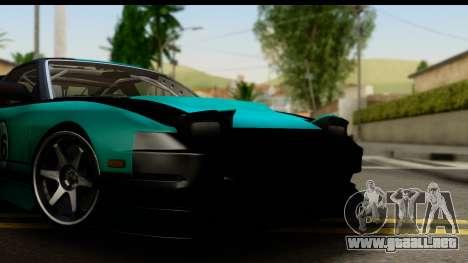 Nissan 200SX S13 Skin para GTA San Andreas vista posterior izquierda