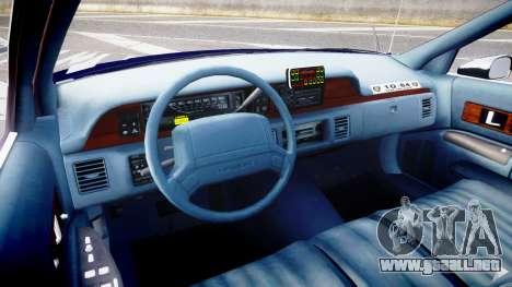 Chevrolet Caprice 1994 LCPD Auxiliary [ELS] para GTA 4 vista hacia atrás