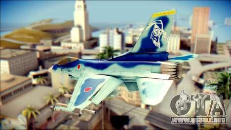 Mitsubishi F-2A JASDF v3.0 para GTA San Andreas left
