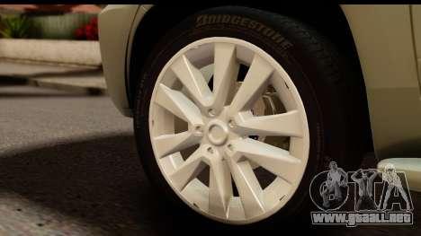 Toyota Land Cruiser 200 2013 para GTA San Andreas vista hacia atrás
