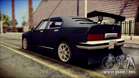 Sentinel GT para GTA San Andreas left