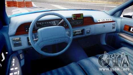Chevrolet Caprice 1993 LCPD With Hubcabs [ELS] para GTA 4 vista hacia atrás