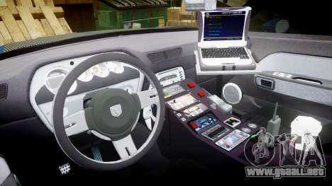 Dodge Challenger RT 2006 Pursuit Vehicle [ELS] para GTA 4 vista hacia atrás