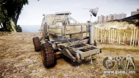 Militar camión blindado para GTA 4 Vista posterior izquierda