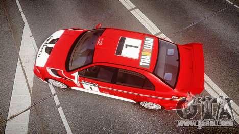 Mitsubishi Lancer Evolution VI 2000 Rally para GTA 4 visión correcta