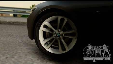 BMW 335i Coupe 2012 para GTA San Andreas vista hacia atrás