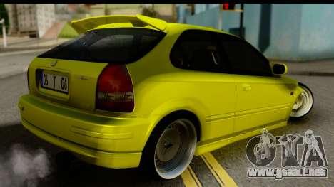Honda Civic 1.4 Taxi para GTA San Andreas left