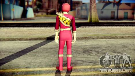 Power Rangers Kyoryu Pink Skin para GTA San Andreas segunda pantalla