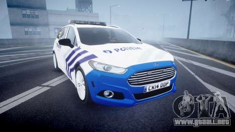 Ford Fusion Estate Belgian Police [ELS] Dog Unit para GTA 4