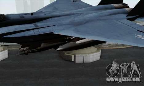 McDonnell Douglas F-15D Eagle GRDF para la visión correcta GTA San Andreas