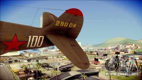 Pokryshkin P-39N Airacobra para GTA San Andreas vista posterior izquierda