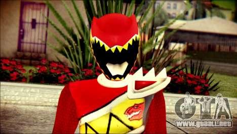 Power Rangers Kyoryu Red Skin para GTA San Andreas tercera pantalla