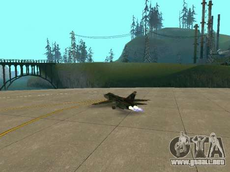 SU 24MR para vista lateral GTA San Andreas