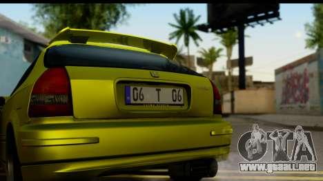 Honda Civic 1.4 Taxi para la visión correcta GTA San Andreas