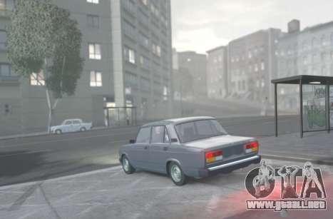 VAZ 2107 de Drenaje para GTA 4 left