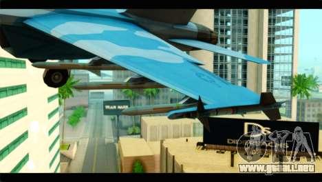 FA-18 Super Hornet Aggressor Squadron para la visión correcta GTA San Andreas