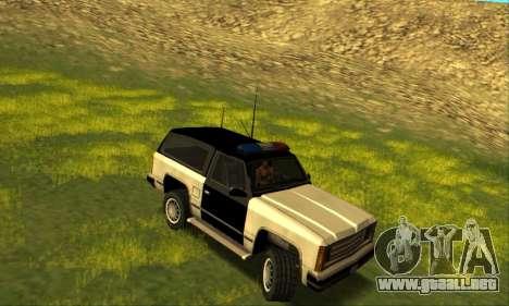 Beta Police Ranger para GTA San Andreas vista posterior izquierda