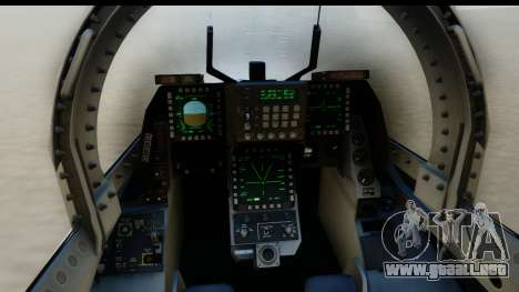 F-2A Zero White para GTA San Andreas vista posterior izquierda