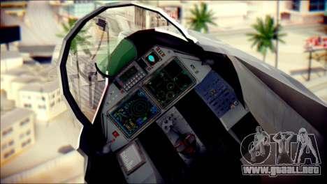 SU-37 Hexagon Madness para GTA San Andreas vista hacia atrás
