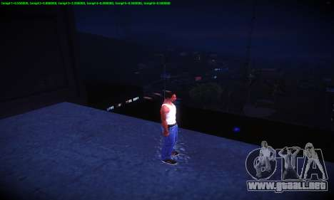 Ebin 7 ENB para GTA San Andreas octavo de pantalla