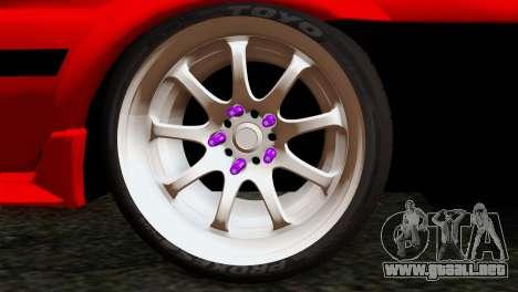 Toyota AE86 para GTA San Andreas vista posterior izquierda