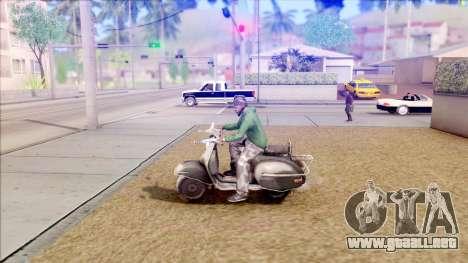 Piaggio Vespa para GTA San Andreas left