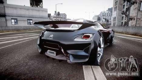 Citroen Survolt para GTA 4 Vista posterior izquierda