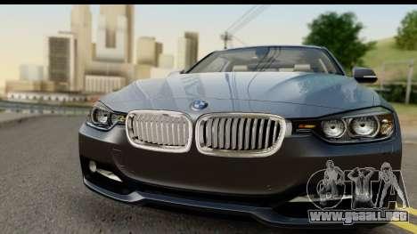 BMW 335i Coupe 2012 para GTA San Andreas vista posterior izquierda