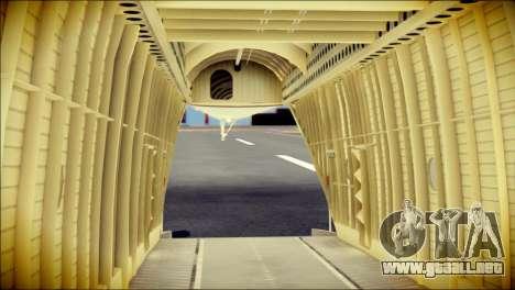 Mi-26 Halo para GTA San Andreas vista hacia atrás
