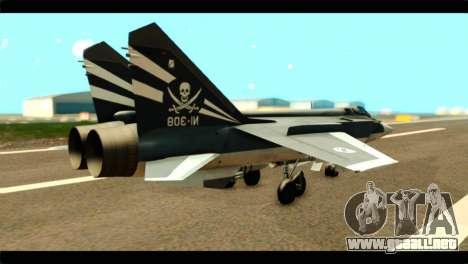 MIG-31 Pirat Squadron para GTA San Andreas left