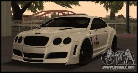 Bentley Continental GT Platinum Motorsport para GTA San Andreas