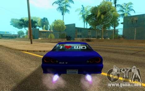 Elegy WorldDrift v1 para GTA San Andreas vista hacia atrás