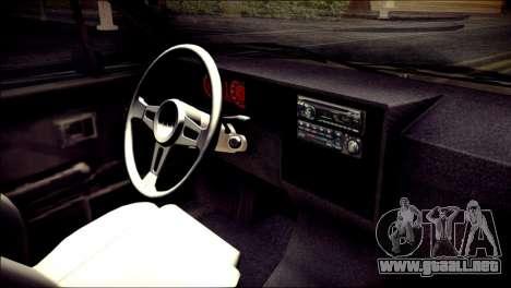 Volkswagen Caddy Widebody Top-Chop para la visión correcta GTA San Andreas