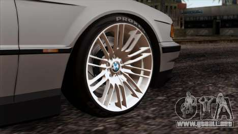 BMW 750iL E38 Romanian Edition para GTA San Andreas vista posterior izquierda
