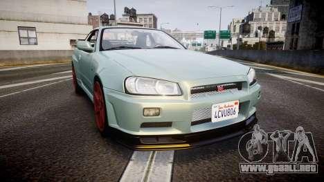 Nissan Skyline R34 GT-R M-Spec Nur para GTA 4