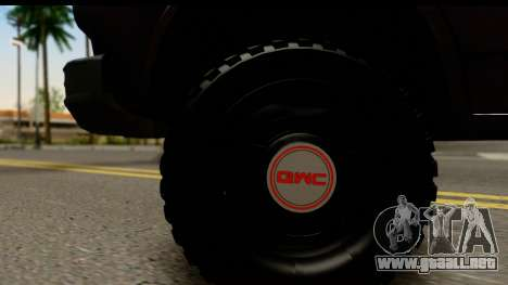 GMC Vandura G-1500 Payday 2 para GTA San Andreas vista hacia atrás