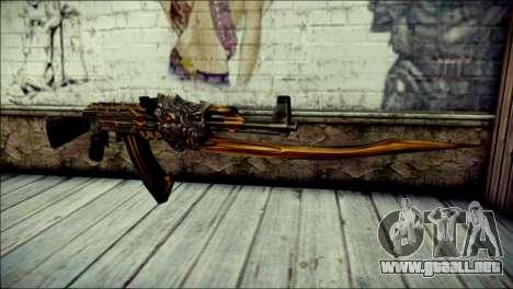 AK-47 Inferno para GTA San Andreas