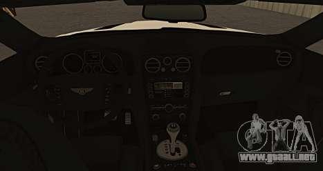 Bentley Continental GT Platinum Motorsport para GTA San Andreas vista posterior izquierda
