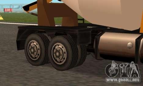 Cement Truck Fixed para GTA San Andreas vista hacia atrás