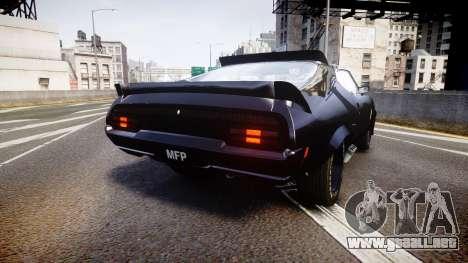 Ford Falcon XB GT351 Coupe 1973 Mad Max para GTA 4 Vista posterior izquierda