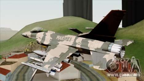 F-16C Top Gun para GTA San Andreas left