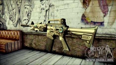 M4A1 Transformer CrossFire para GTA San Andreas segunda pantalla