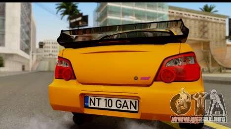 Subaru Impreza WRX STI 2005 Romanian Edition para la visión correcta GTA San Andreas