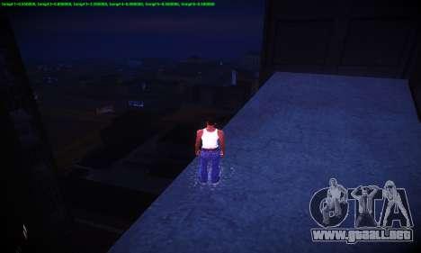 Ebin 7 ENB para GTA San Andreas novena de pantalla