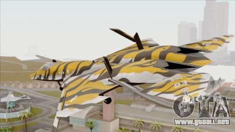 YF-23 Black Widow II Tigermeet para GTA San Andreas left