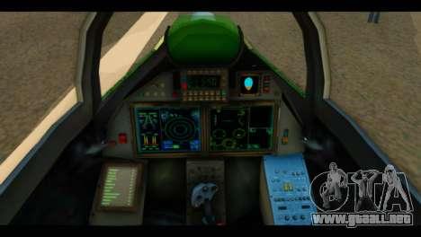 SU-37 Terminator Russian AF Camo para GTA San Andreas vista hacia atrás
