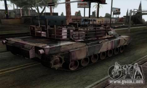 M1A2 Abrams Autumn Camo para GTA San Andreas left